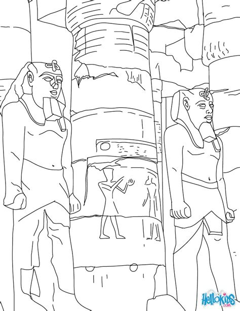 Tempel Kleurplaat by Luxor Temple Entrance For Coloring Pages