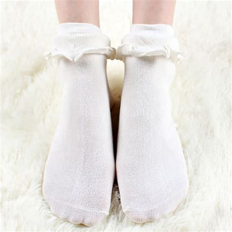 lovely princess frilly sock with retro lace ruffle