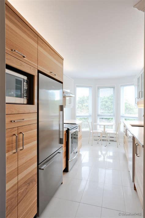 renove cuisine projet de cuisine en thermoplastique blanc et en hickory