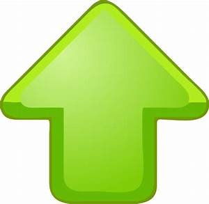 Up Arrow Green clip art Free vector in Open office drawing ...