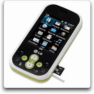 Amazon LG Neon GT365 Phone White Green AT&T Cell