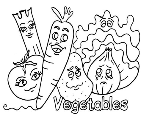 Coloring Vegetable by Coloring Pages Of Vegetable Is Indeed Beneficial For Boys