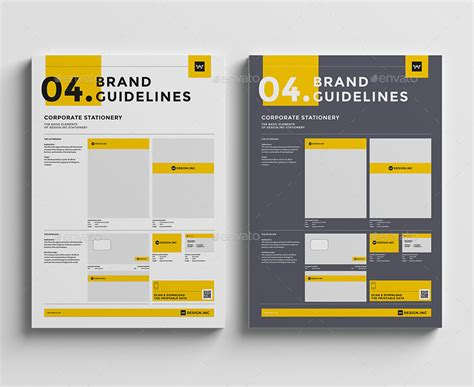 brand guide template brand manual template 4 stationery by egotype graphicriver
