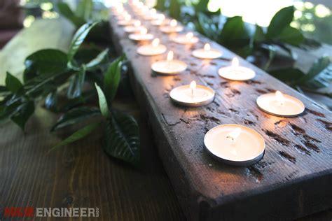 diy tea light centerpiece  plans rogue engineer