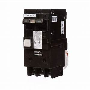 Siemens 60 Amp Double Pole Type Qpf Gfci Circuit Breaker