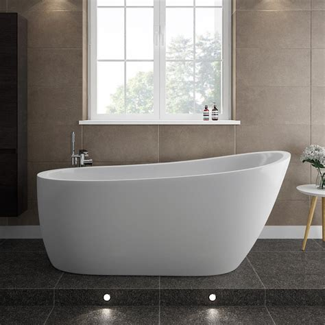 Freestand Bathtub by Turin 1665 Modern Slipper Free Standing Bath At