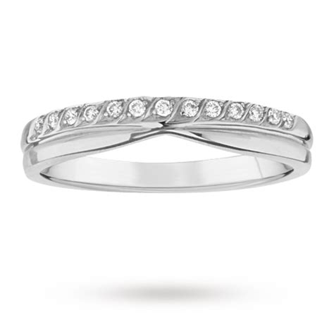3mm platinum wedding band with 0 09 total carat weight diamonds wedding rings