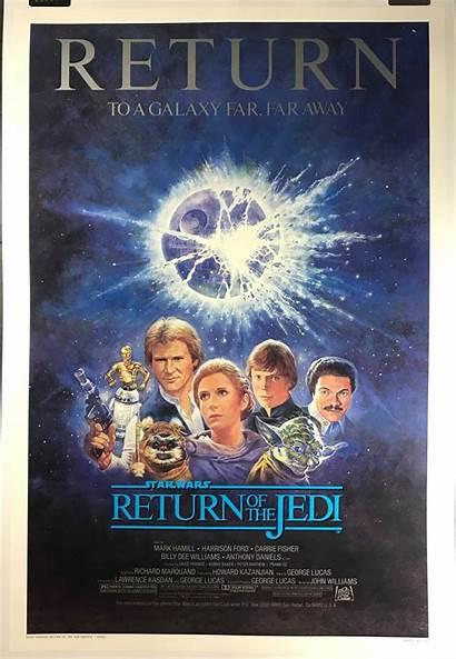 Jedi Return Poster Movie Release 1985 Wars