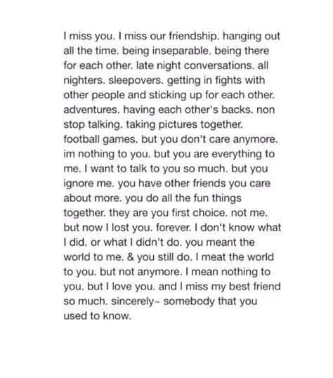 missing my ex best friend quotes