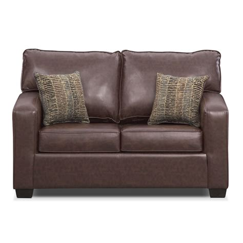 value city furniture sleeper sofa brookline twin innerspring sleeper sofa brown value