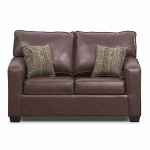 brookline twin innerspring sleeper sofa brown value With value city sectional sleeper sofa