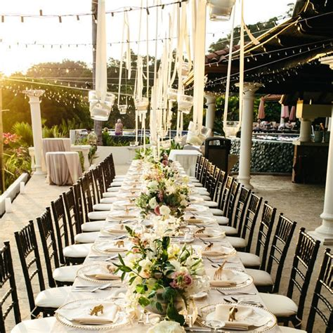 Outdoor Wedding Decorations by Ideas For Outdoor Wedding Reception Tables Popsugar Home