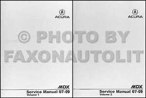 2007 Acura Mdx Repair Shop Manual Original 2 Volume Set