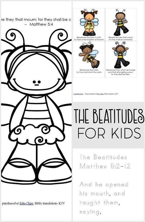 The Beatitudes For Kids Printable Pack  Beatitudes, Help