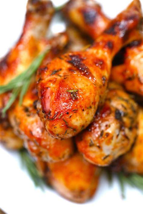 crispy baked chicken legs sweet  savory meals