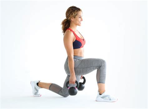 kettlebell self lunges exercises beginner workout kettlebells moves body training jess sims swings weights