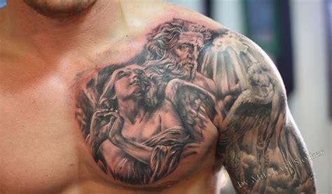 22+ Inspiring Angel Chest Tattoo