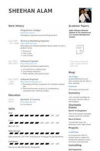 Analyst Programmer Resume Template by Programmer Analyst Resume Sles Visualcv Resume