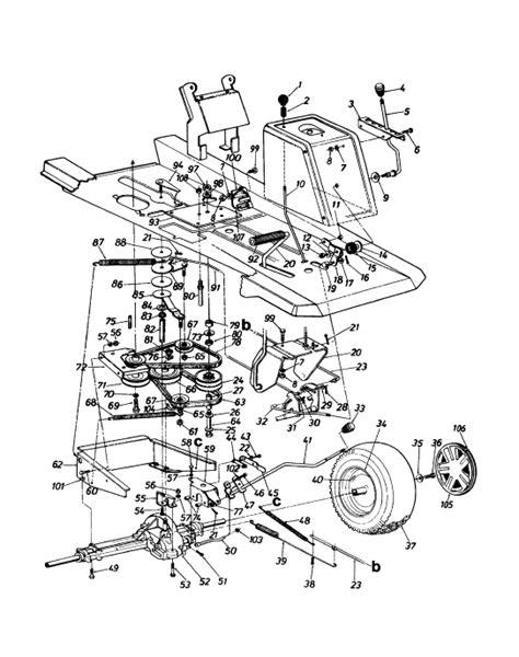 belt diagram mtd model abb