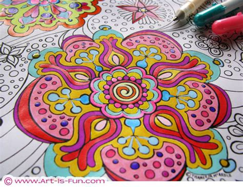 zen   colored pencilfree adult coloring pages