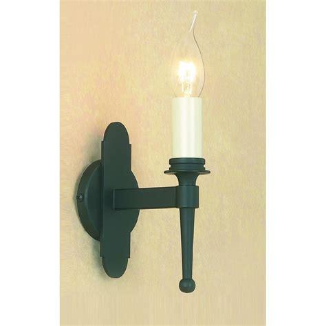 impex lighting blenheim 1 light matt black iron wall