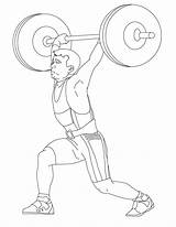 Coloring Weight Lifting Printable Onlinecoloringpages sketch template