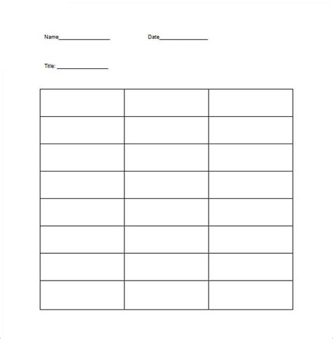 chart template  examples   word excel