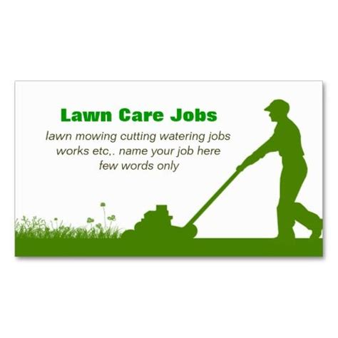 pin  lawn care business cards