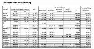 Kassenführung Einnahmen überschuss Rechnung : einnahmen berschuss rechnung e r vorlage zum download ~ Themetempest.com Abrechnung