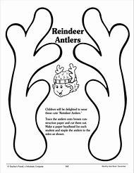 Free Printable Reindeer Antlers Template