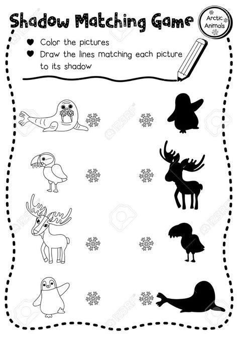 shadow matching worksheets for kindergarten