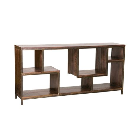 iron and wood bookcase wood and iron bookcase cubix by the goods furniture