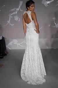 white lace wedding dress lace mermaid wedding dress open back ipunya