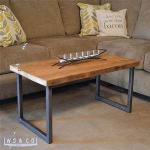 reclaimed barn wood coffee table with metal legs With wood top metal legs coffee table