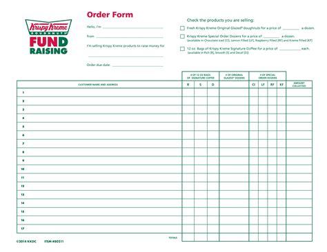 Special Order Doughnut Form | Krispy Kreme