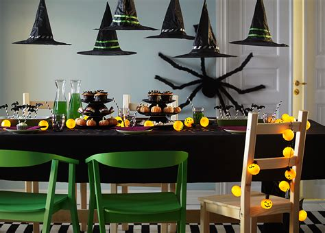 ikea table decorations diningroom with a dining table decorated for halloween with a lighting chain and different home