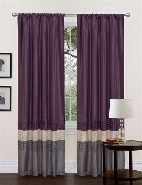 Lush Decor Curtains by Lush Decor Grey Purple Window Curtain Stage Stores