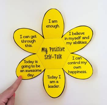 Positive Self Talk Flower Craft By Pathway 2 Success Tpt