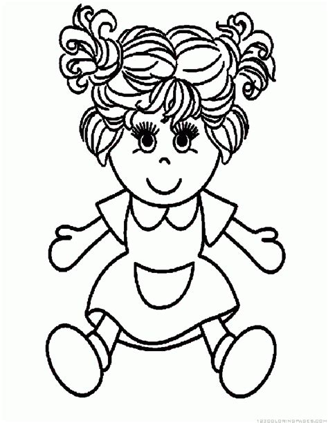 coloring doll pinypon doll pages coloring pages