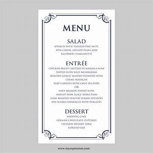 free wedding menu card templates car interior design With wedding menu cards templates for free