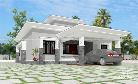 Flat roof single floor home – Kerala Home Design