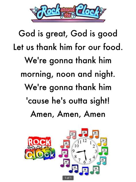 easy to learn grace or prayer before meals for preschool 111 | 1846d8a475a6a4200720373e5e8af090