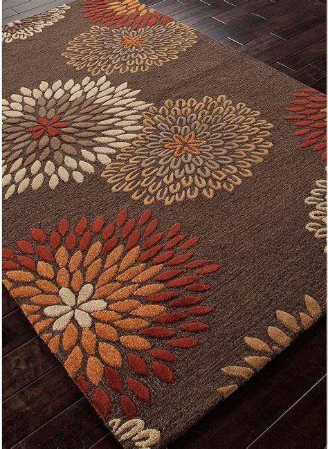 orange and brown rug