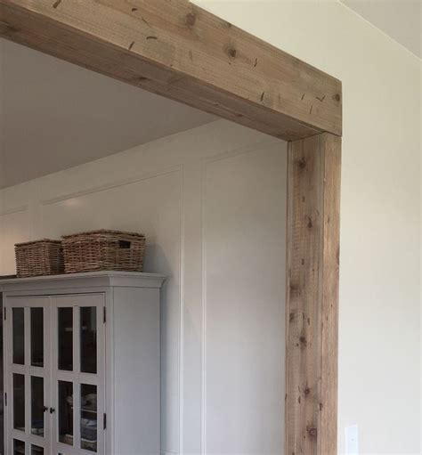 faux barn wood beam doorway faux wood beams faux beams