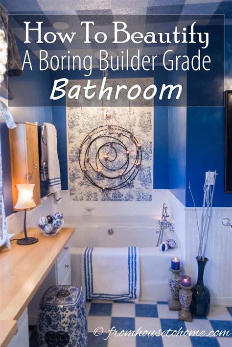 beautify  boring builder grade bathroom