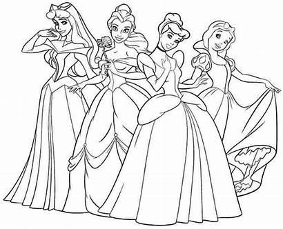 Coloring Disney Pages Princesses Princess Printable Popular