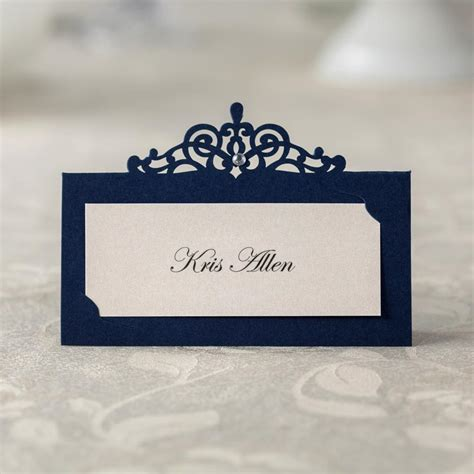table number place cards 24 pcs blue paper table number card name card place card