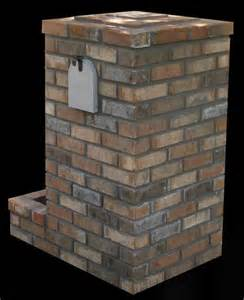 Brick Mailbox Designs with Planters