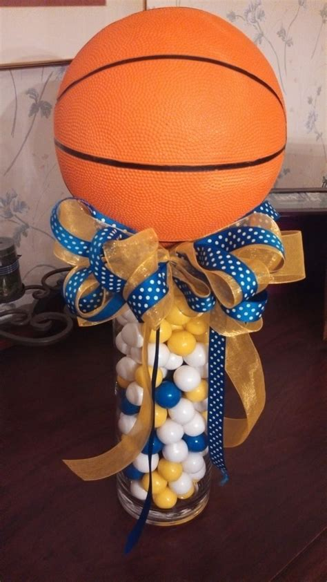 sports centerpieces for tables center pieces using gum balls for basketball banquet