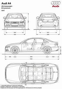 Dimension Audi A4 : 2008 audi a4 blueprint dimensions blueprints pinterest audi a audi and audi a4 ~ Medecine-chirurgie-esthetiques.com Avis de Voitures